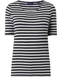 GANT T-Shirt mit Streifenmuster - Blau