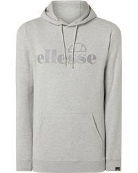 Ellesse Hoodie mit Logo-Print Modell 'Gianeli' - Grau