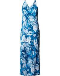 Lauren by Ralph Lauren Nachthemd mit U-Ausschnitt - Blau