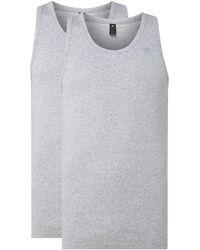 G-Star RAW Slim Fit Onderhemd Van Biologisch Katoen - Grijs