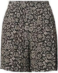 Jake*s Casual Shorts mit kontrastivem Design und elastischem Bund - Schwarz