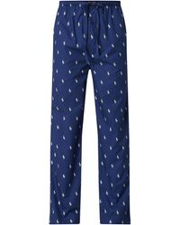 Polo Ralph Lauren Pyjamahose aus Baumwolle - Blau