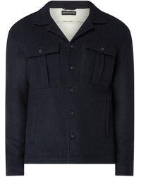 DRYKORN Jacke mit Woll-Anteil Modell 'Roonin' - Blau