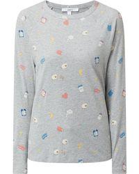 Jake*s Casual Pyjama-Oberteil mit Allover-Print - Mettallic