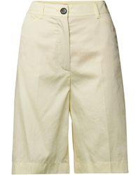 Marc Cain Bermudas aus reiner Baumwolle - Gelb