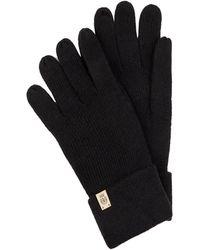 Roeckl Sports Handschuhe mit Woll-Anteil und Logo-Applikation - Schwarz
