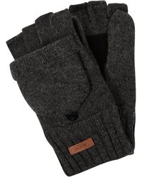Barts Handschuhe aus Wolle Modell 'Haakon' - Grau