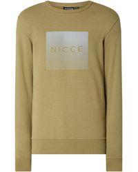 Nicce London Sweatshirt mit Logo-Print Modell 'Rhombus' - Grün