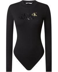 Calvin Klein - Body mit Logo-Print - Lyst