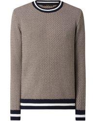 Windsor. Pullover mit Baumwolle Modell 'Carino' - Natur