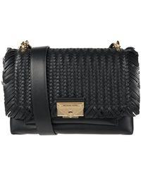 MICHAEL Michael Kors Crossbody Bag aus Leder Modell 'Cece' - Schwarz