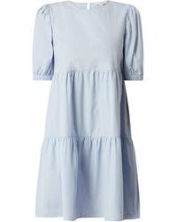 Edc By Esprit Minikleid aus Bio-Baumwolle - Blau