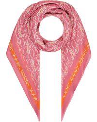 Joop! Schal mit Plisseefalten - Pink