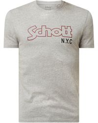 Schott Nyc - T-Shirt aus Baumwolle - Lyst