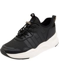 UGG Sneaker mit Lederbesatz Modell 'Daze' - Schwarz