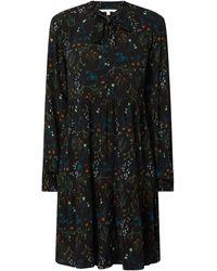 Tom Tailor Denim Kleid aus Viskose mit floralem Muster - Schwarz