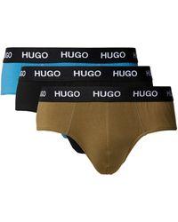 HUGO Slip aus Baumwoll-Mix im 3er-Pack - Grün
