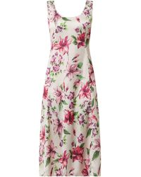 Liu Jo Kleid mit floralem Muster - Weiß