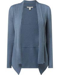 Esprit Cardigan mit Schalkragen - Blau