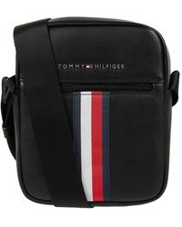 Tommy Hilfiger Umhängetasche in Leder-Optik - Schwarz
