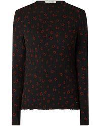 Tom Tailor Denim Shirt mit Allover-Muster - Schwarz