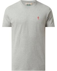 RVLT Regular Fit T-Shirt mit Logo - Grau