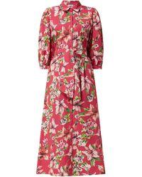 Liu Jo Blusenkleid mit Taillengürtel - Pink