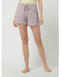 Jake*s Casual Pyjamashorts mit floralem Muster - Pink