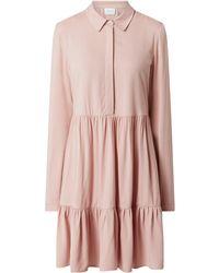 Vila Minikleid aus Viskose Modell 'Morose' - Pink