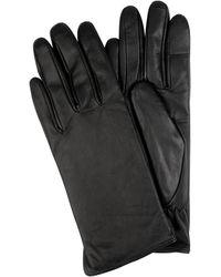 eem-fashion Touchscreen-Handschuhe aus Leder - Schwarz