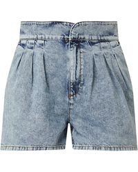 Jake*s Casual Jeansshorts mit Bundfalten - Blau