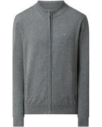 Fynch-Hatton Strickjacke aus Baumwolle - Grau