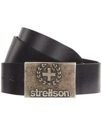Strellson Gürtel mit Logo-Schließe - Schwarz