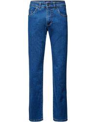 Gardeur Regular Fit Jeans mit Label-Patch Modell 'Nevio' - Blau
