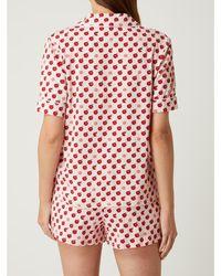 DKNY Pyjama Met Reverskraag - Roze