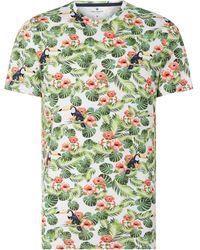 Tom Tailor T-Shirt mit exotischem Muster - Weiß