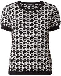 Esprit Collection Pullover mit grafischem Muster - Schwarz