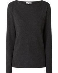 Tom Tailor Sweatshirt mit Fischgrat-Dessin - Grau