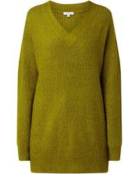 Tom Tailor Longpullover mit überschnittenen Schultern - Grün