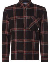 Marc O'Polo DENIM Relaxed Fit Freizeithemd aus Baumwolle - Schwarz