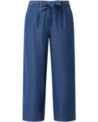 Esprit Collection Culotte aus Lyocell - Blau