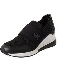 MICHAEL Michael Kors Slip-on-Sneaker aus Textil Modell 'Felix Trainer' - Schwarz