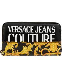 Versace Jeans Couture Portemonnaie mit Logo-Muster - Schwarz