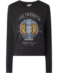 ONLY Sweatshirt mit Print Modell 'Lucinda' - Schwarz