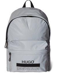 HUGO Rucksack mit Brand-Detail - Mettallic