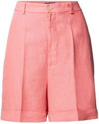 Polo Ralph Lauren Leinenshorts mit hohem Bund - Pink