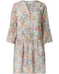 Cinque Kleid aus Baumwolle Modell 'Cidakaro' - Weiß