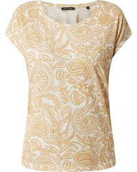 Marc O'polo T-Shirt mit Paisley-Muster - Gelb