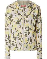 s.Oliver RED LABEL Sweatjacke mit Camouflage-Muster - Natur