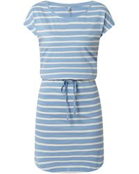 ONLY Jerseykleid mit Tunnelzug Modell 'May' - Weiß